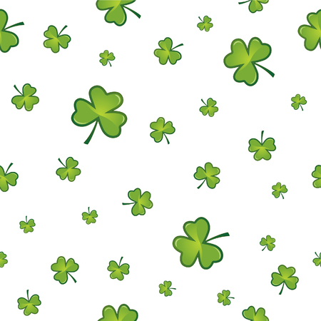 three leaves: Seamless shamrock background