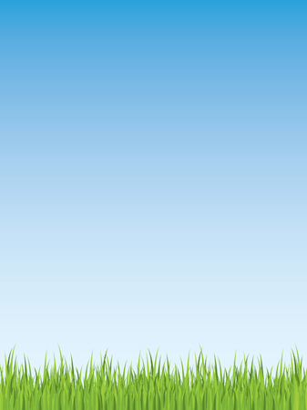 Spring grass illustration (seamless) Vector
