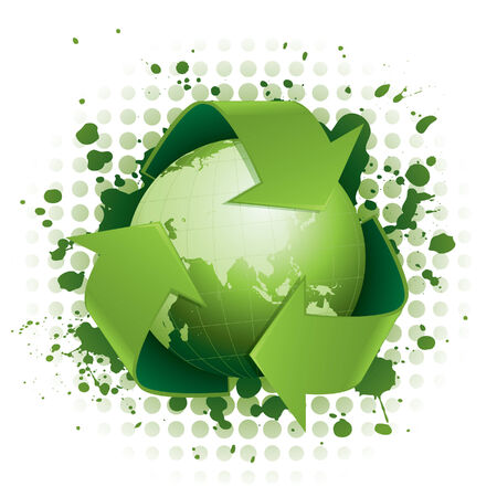 Funky green recycling concept