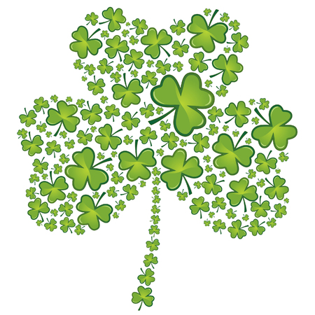 four leaf clovers: St Patricks day shamrock pattern