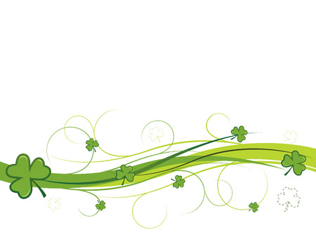 three leaves: Shamrock and swirls banner