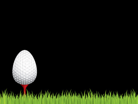 Easter golf holiday background Vector