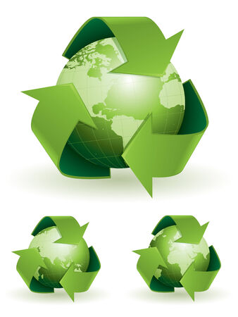 recycling symbols: Global recycling symbols