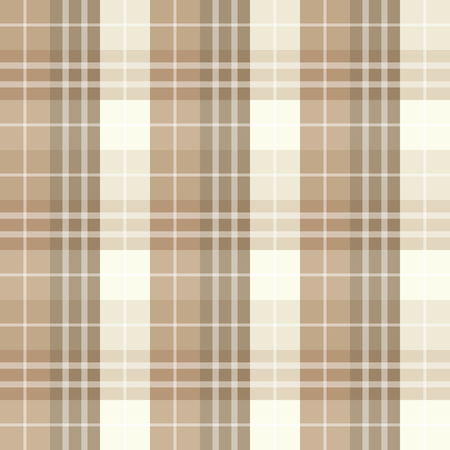 Seamless brown checked pattern Vector