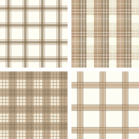 Seamless checked pattern set Vector