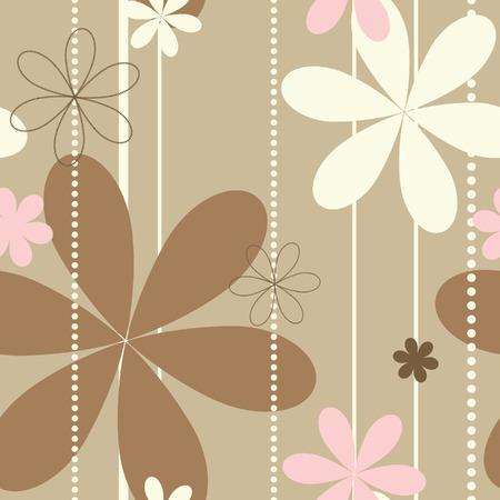 레트로 꽃 원활한 패턴