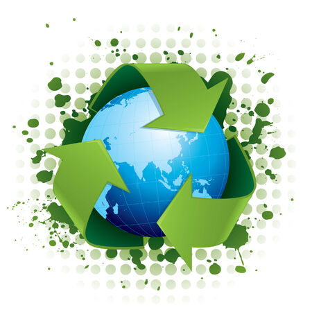 Recycling concept illustration Stock Vector - 4449454
