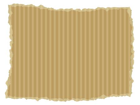 Ripped cardboard illustration Illustration