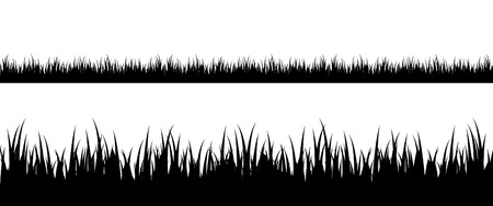 Seamless grass silhouette Stock Vector - 4449462