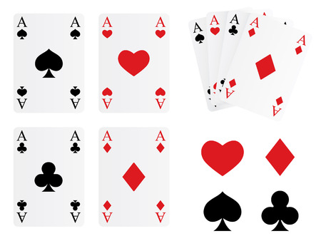 Playing cards and symbols Vector