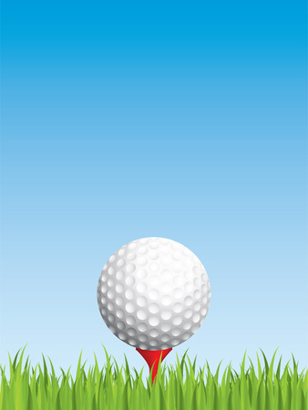 Golfing background Vector