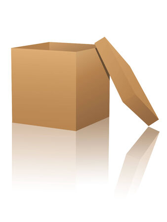 Cardboard box with reflections Vector