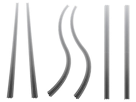 tread: Chunky tyre tracks