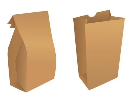 Brown paper bags Illustration
