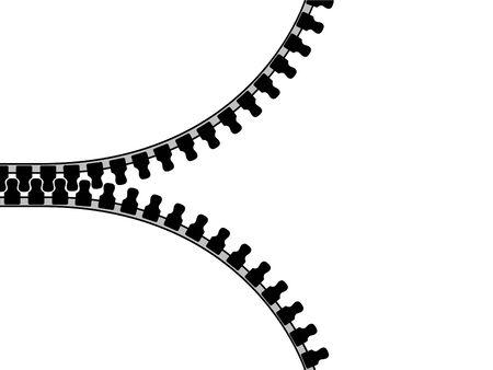Zip, isolated on white