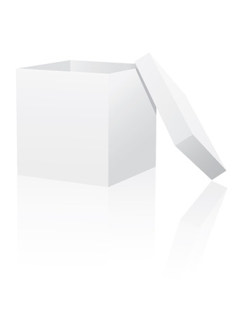 White box with lid Vector