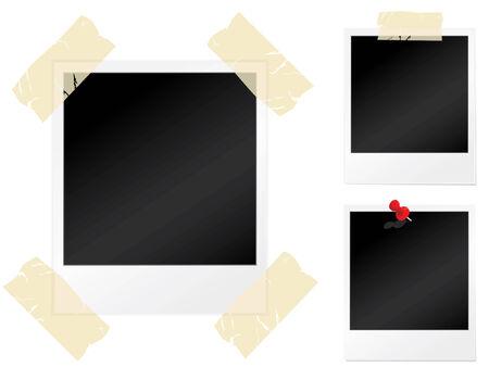 Set of blank photographs