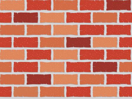 Seamless brick wall illustration Vector