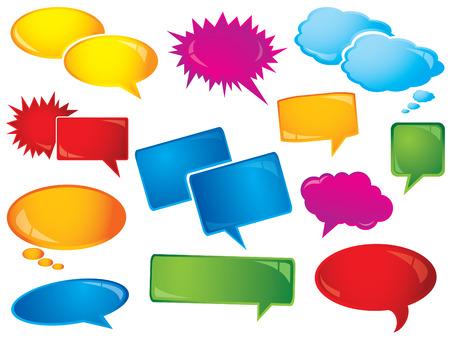 Glossy speech bubbles Illustration
