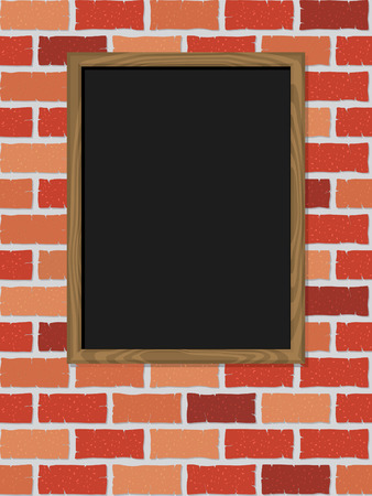 Blank blackboard, ready for your text Vector