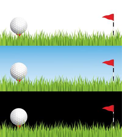 Golf illustratie, gelaagde gemakkelijk bewerken