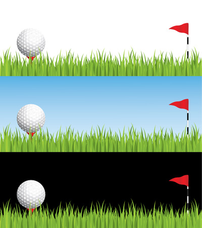 putt: Golf illustration, layered for easy editing