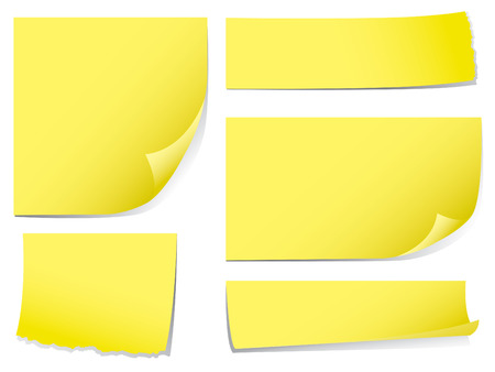 Sticky memo notes.  Check my portfolio for more stationery. Vector