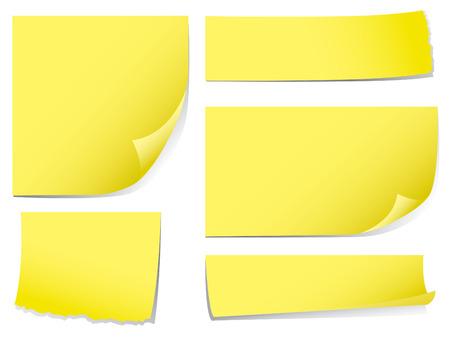 sticky notes: Zelfklevende memo notities. Check mijn portfolio voor meer briefpapier.
