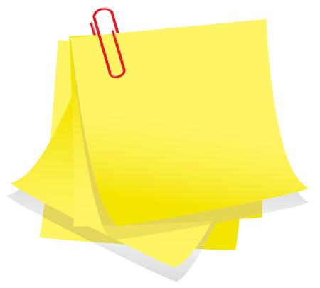stapel papieren: Nota's en memo clip. Check mijn portfolio voor meer briefpapier.