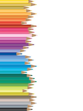 Colorful pencil illustration Illustration