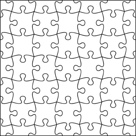 fully editable: Jigsaw background, fully editable, all pieces are individual.