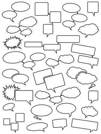 Blank speech bubbles Illustration