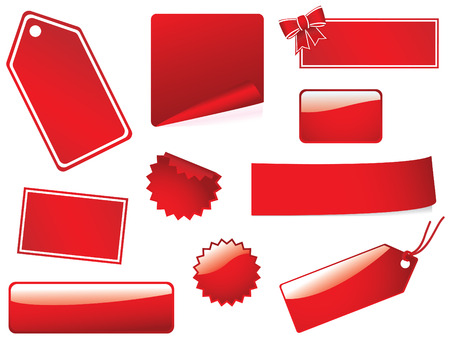 Blank stickers and labels Vector