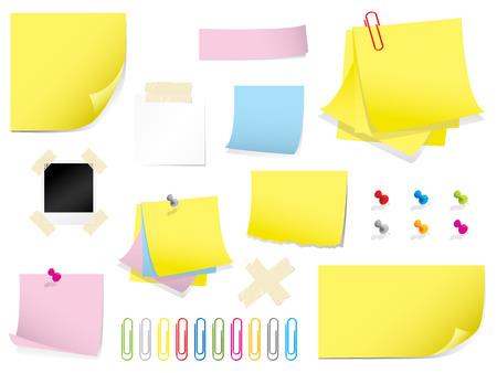 tack board: Mega colecci�n de papeler�a Vectores