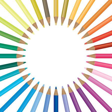Crayon de couleur de fond