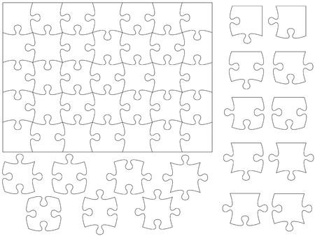 puzzle pieces: Puzzle und St�cke.
