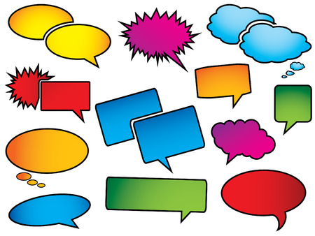 Pop art speech bubbles Vector