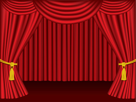 Theater curtains.  Grouped and layered for easy editing. Vector