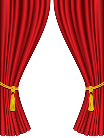 theaters: Theater curtains isolated on white background