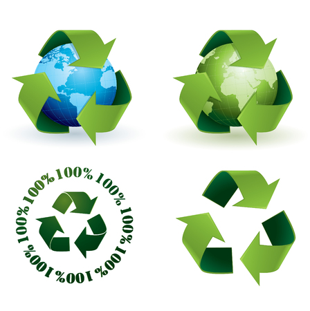 Global recycling icons Vector