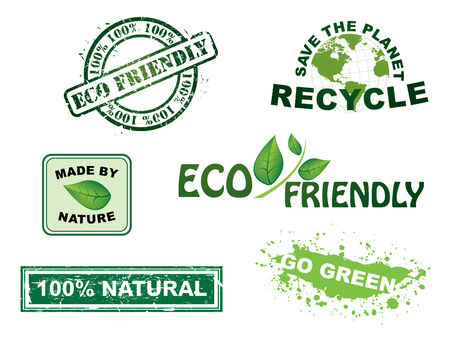 eco friendly icon: Vector, ecology stamps and icons series