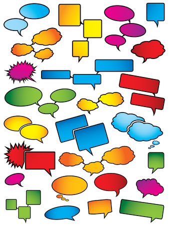 Cartoon speech bubbles Vector