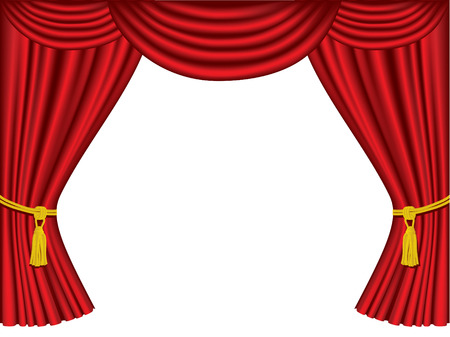 curtains: Theatre curtains with copy space Illustration