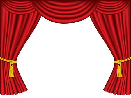 Teatro cortinas con copia espacio