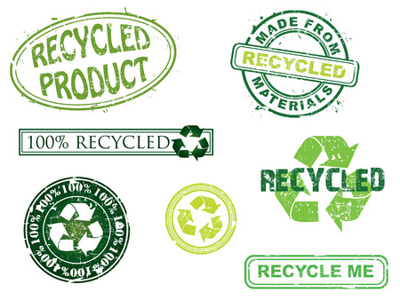Recycled stamps, more in my portfolio. Stock Vector - 5123350