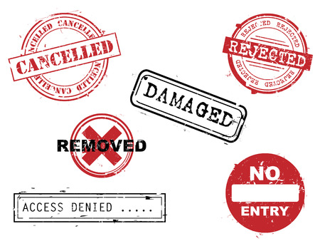 Rubber stamps Stock Vector - 5219927