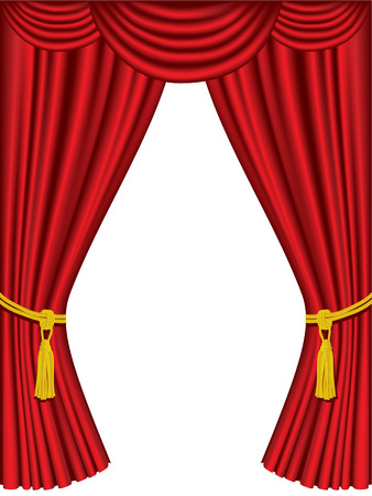 Theater curtains with drapes Vector