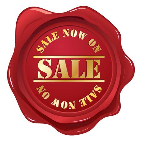Sellos de cera de venta Ilustración de vector