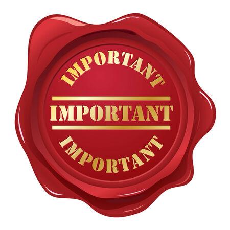 Important wax seal Stock Vector - 6248490
