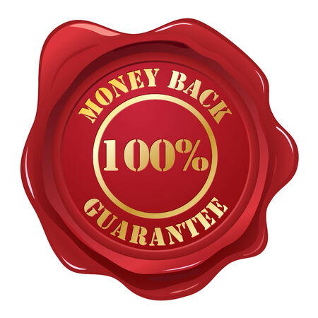 Money back guanantee stamp Illustration